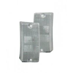 COPPIA PLASTICHE FRECCE ANT. BIANCHE VESPA PX 125/150/200 - PK 50/80/125 S
