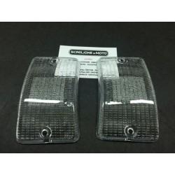 COPPIA PLASTICHE FRECCE BIANCHE ANTERIORI VESPA 50 XL/HP