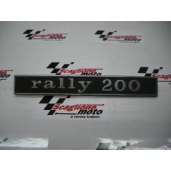 """TARGHETTA """"RALLY 200"""" 2 PIOLI 3 MM-INTERASSE 110 MM"""